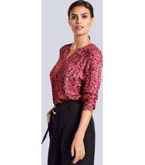 blouse alba moda berry::zwart