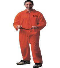 buy seasons men's jumpsuit orange costume