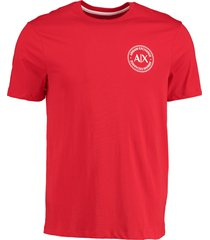 armani exchange t-shirt rood met borstlogo mf 3hztff.zjh4z/1401