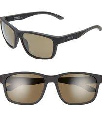 men's smith basecamp 58mm chromapop(tm) polarized sunglasses - matte gravy/ blue