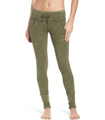 women's free people fp movement kyoto pocket leggings, size large - green
