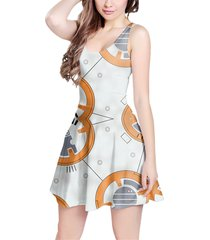 little round droid sleeveless dress