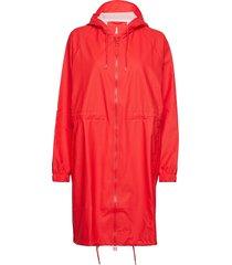 long w jacket regenkleding rood rains