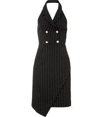 abito elegante con bottoni gioiello (nero) - bodyflirt boutique