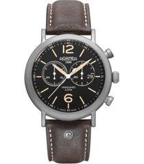 roamer men's chronograph 42 mm dress watch in steel case on strap