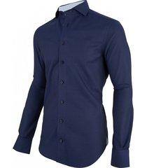 cavallaro cavallaro overhemd mauro dark blue 1086075-63000 blauw