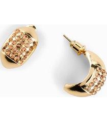 orecchini a cerchio con cristalli (oro) - bpc bonprix collection