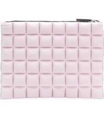 no ka' oi chocolate bar quilted pouch - pink