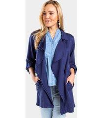 tonya waterfall jacket - navy