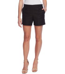 vince camuto double-weave button-front shorts