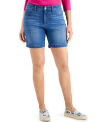 charter club mid-rise jean shorts, created for macy's