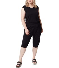 frayed trendy plus size cropped jumpsuit