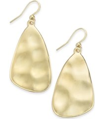 style & co hammered sculptural drop earrings, created for macy's