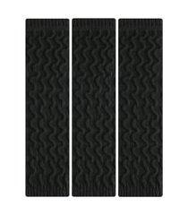 kit 3 pares de meia polaina selene esportiva feminina - preto