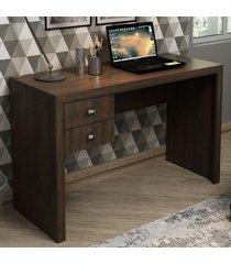 mesa escrivaninha 2 gavetas me4123 rústico - tecno mobili