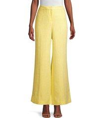 lafayette 148 new york women's dalton wide-leg linen pants - quince multi - size 12