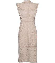 dress knälång klänning creme rosemunde