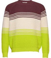 gunther sweater gebreide trui met ronde kraag multi/patroon wood wood