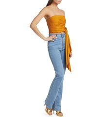 amur women's takara strapless top - gold - size 6