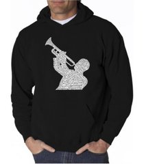 la pop art men's word art hoodie - all time jazz songs