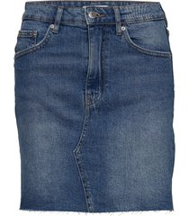 vintage denim skirt kort kjol blå gina tricot