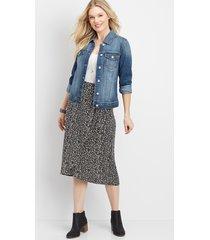 maurices womens leopard print wrap skirt