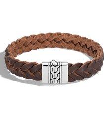 men's john hardy men's classic chain braided leather bracelet