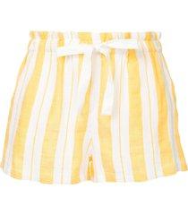 lemlem vertical stripes shorts - yellow