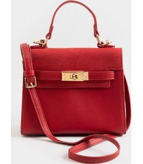 lani mini structured satchel - red