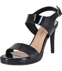 sandalia de fiesta amaltea negro alquimia