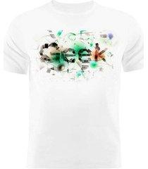 camiseta manga curta nerderia geek branco - branco - masculino - dafiti