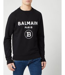 balmain men's small coin flock sweatshirt - noir - m