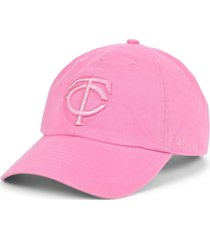 '47 brand minnesota twins dark gray pink clean up cap