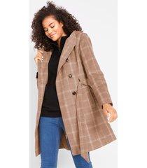 korte coat met ruiten