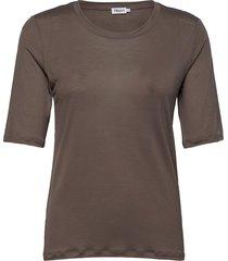 elena tencel tee t-shirts & tops short-sleeved bruin filippa k