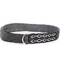 women's isabel marant balknit knit belt, size one size - silver