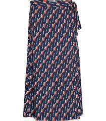 chika knälång kjol blå dagmar