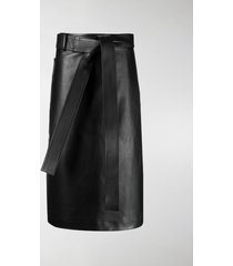 balenciaga wrap mid-length skirt