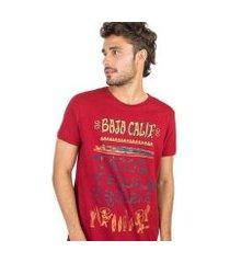 camiseta taco estampada masculina
