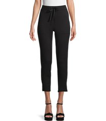 workshop women's fleece drawstring pants - black - size xl
