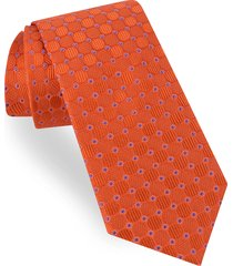 men's ted baker london circle & dot silk tie, size regular - orange