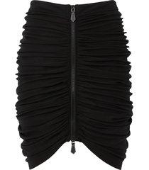 burberry ruched mini skirt - black
