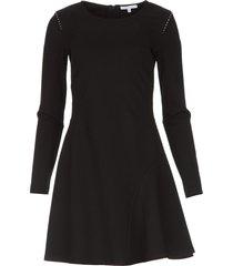 jurk met stud details nora  zwart