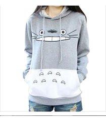 warm sweatshirt harajuku cartoon totoro animal women hoodie spring autumn cloth