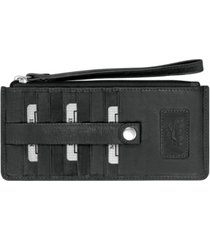 mancini casablanca collection rfid secure ladies wristlet/wallet