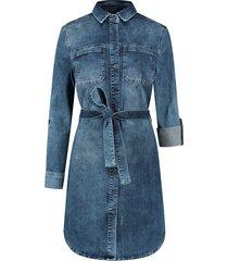 para mi sammy dress p-form denim ss211.022164 d65- cloudly blue