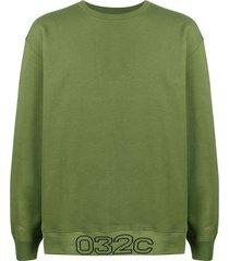 032c berlin crew-neck sweatshirt - green