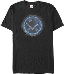 marvel men's comic collection shield meaning emblem short sleeve t-shirt