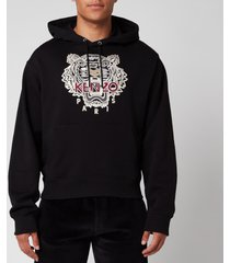 kenzo men's varsity tiger hoodie - black - xxl