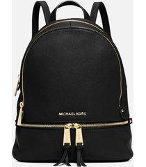 michael michael kors women's rhea zip medium backpack - black